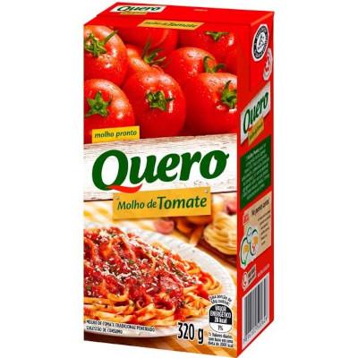 Molho de tomate refogado peneirado 320g Quero Tetra Pak UN