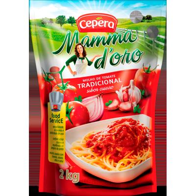 Molho de Tomate Tradicional 2kg Cepêra sachê UN