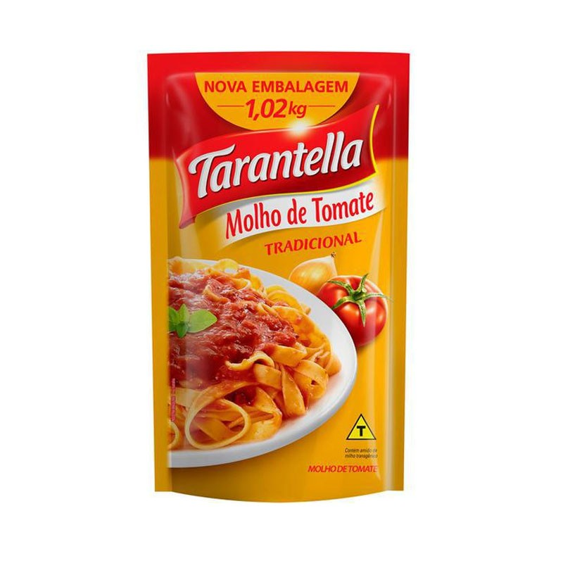 Molho de tomate Tradicional 1,02kg Tarantella sachê UN