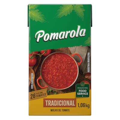 Molho de Tomate Tradicional 1,06kg Pomarola tetra pak UN