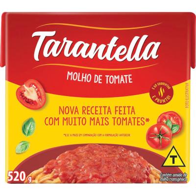 Molho de Tomate Tradicional  520g Tarantella Tetra Pak UN