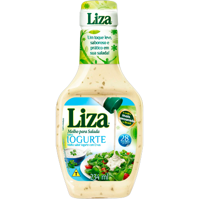 Molho para Salada Iogurte 234ml Liza frasco FR