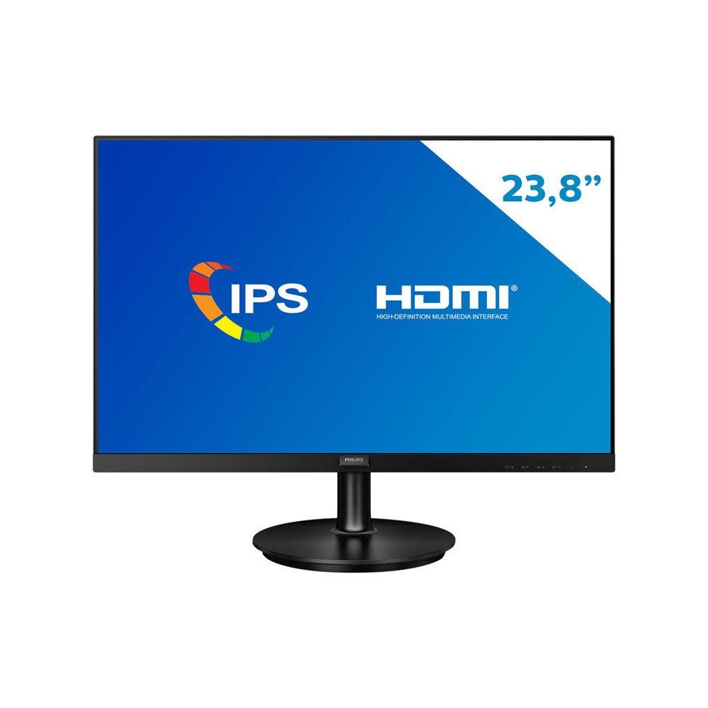 """Monitor 23.8"""" LCD Full HD 242V8A Preto Bivolt unidade Philips  UN"""