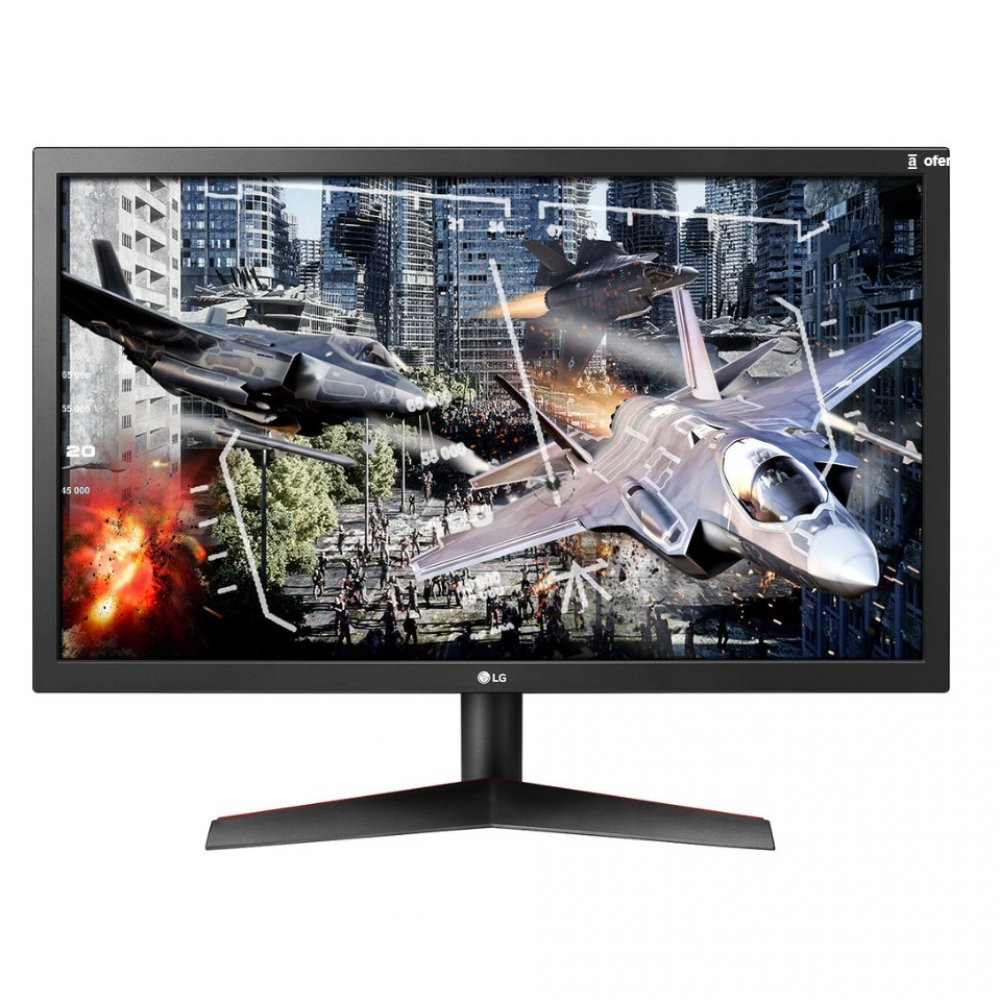 "Monitor Gamer 24"" LED Full HD 24GL600F Preto Bivolt unidade LG  UN"