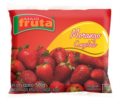 Morango congelado 500g Mais Fruta pacote UN