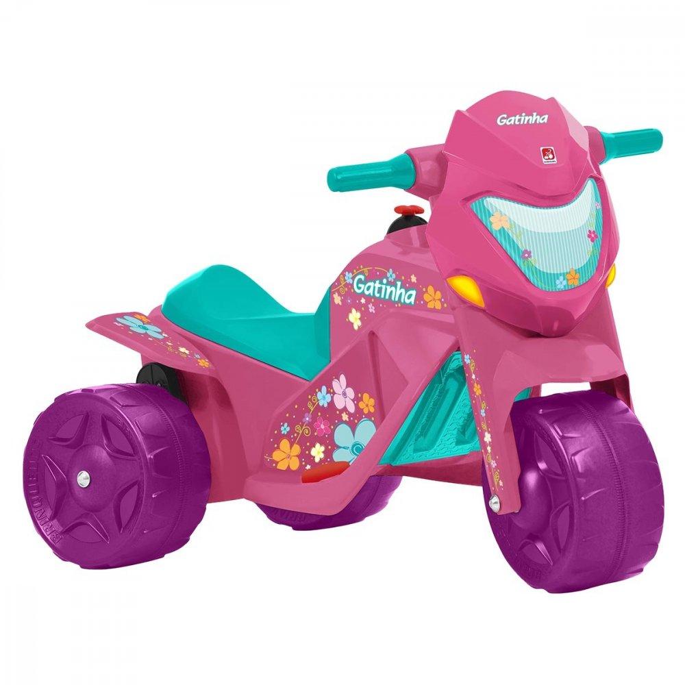 Moto Elétrica Infantil Gatinha Rosa unidade Bandeirante  UN