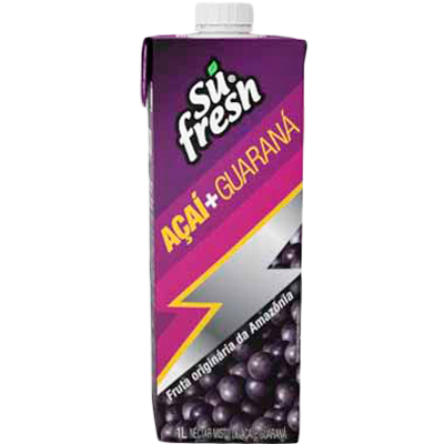 Néctar de Fruta sabor açaí e guaraná 1Litro Sufresh Tetra Pak UN