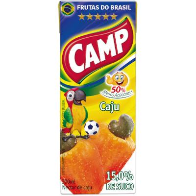 Néctar de Fruta sabor cajú 200ml Camp Tetra Pak UN