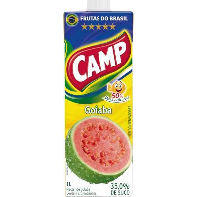 Néctar de Fruta sabor Goiaba 1Litro Camp Tetra Pak UN