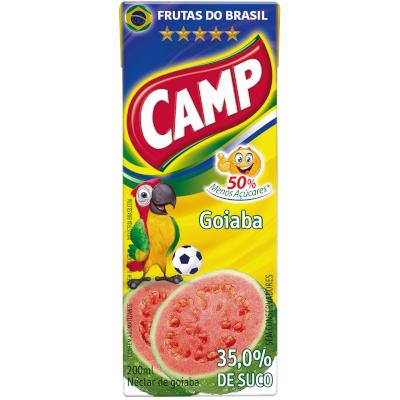 Néctar de Fruta sabor goiaba 200ml Camp Tetra Pak UN
