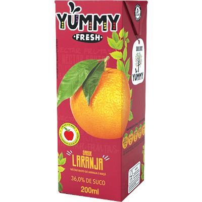 Néctar de Fruta sabor Laranja  200ml Yummy Tetra Pak UN
