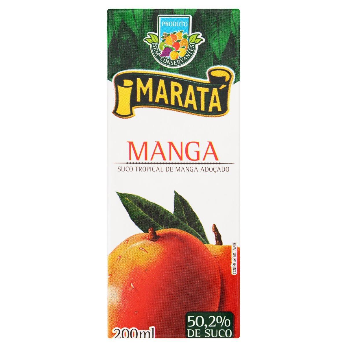 Néctar de Fruta sabor Manga 200ml Maratá tetra pak UN