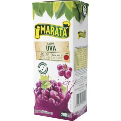 Néctar de Fruta sabor uva 200ml Maratá Tetra Pak UN