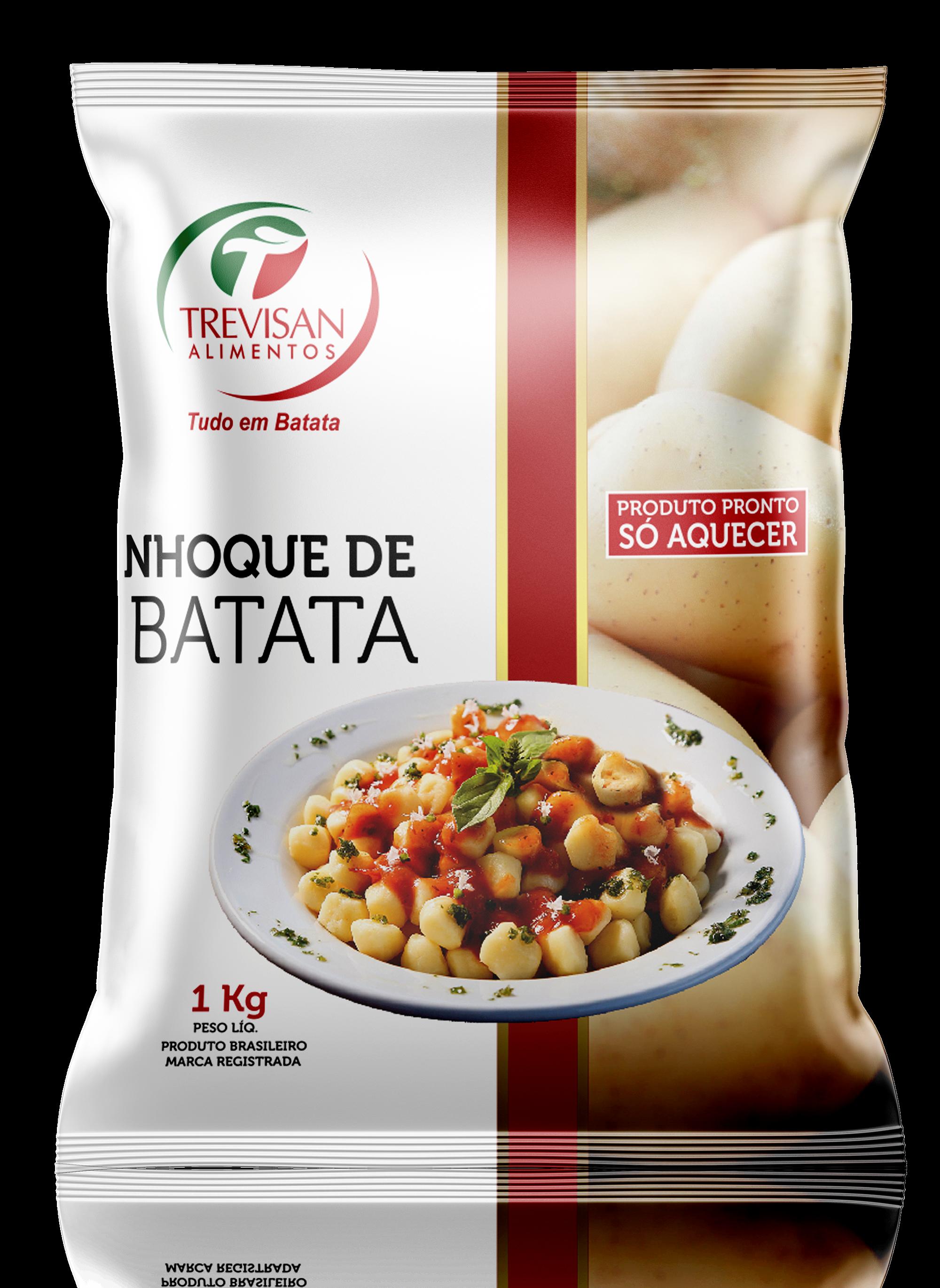 Nhoque de Batata sem Molho 1kg Trevisan pacote PCT
