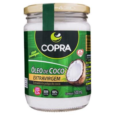 Óleo de coco extra virgem 500ml Copra vidro UN