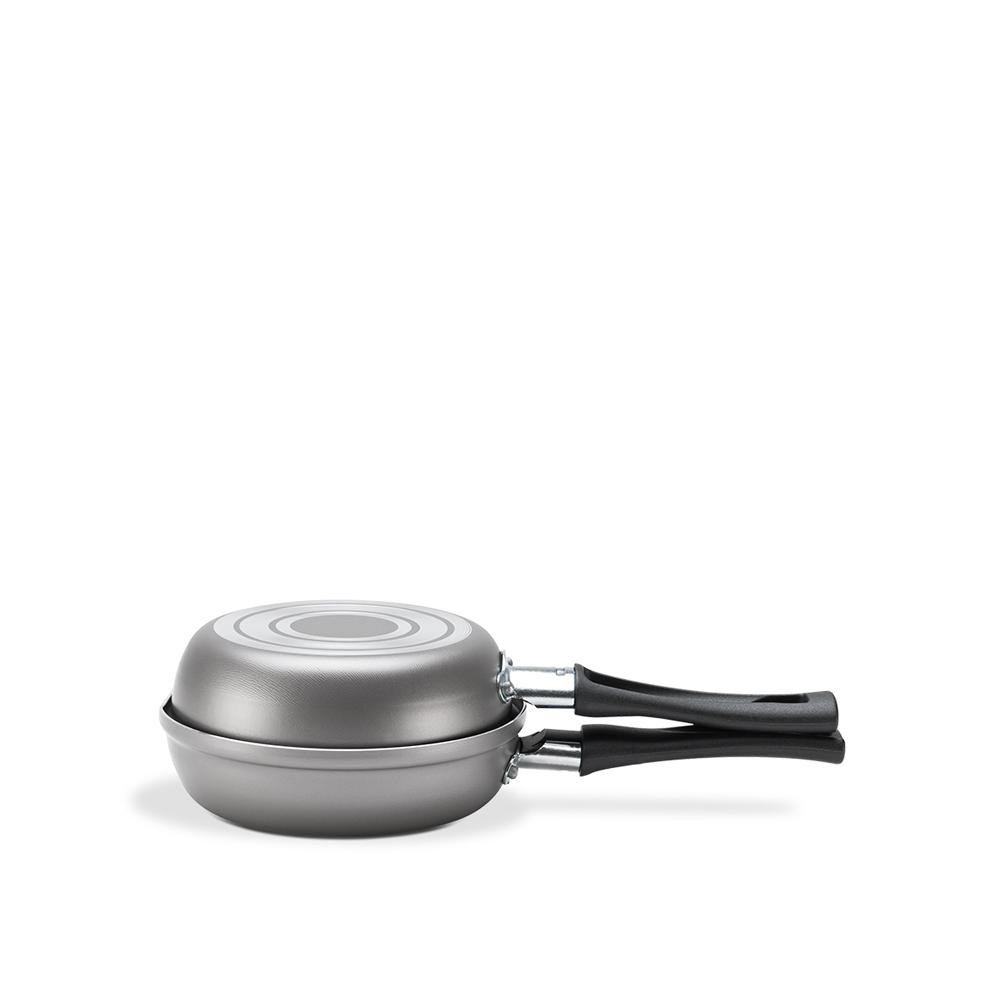 Omeleteira Antiaderente Chilli 0,4 Litros Prata Ø 14 Brinox  UN