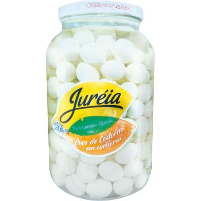 Ovos de codorna em Conserva 1,8kg Juréia vidro KG