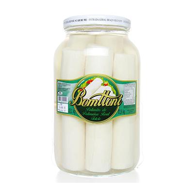 Palmito real tolete 1,8kg Bomttoni vidro UN