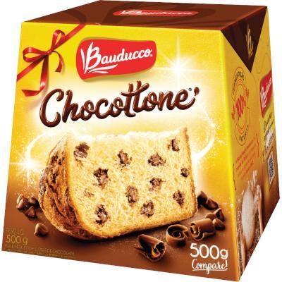 Panetone gotas de chocolate 500g Bauducco Chocottone  UN