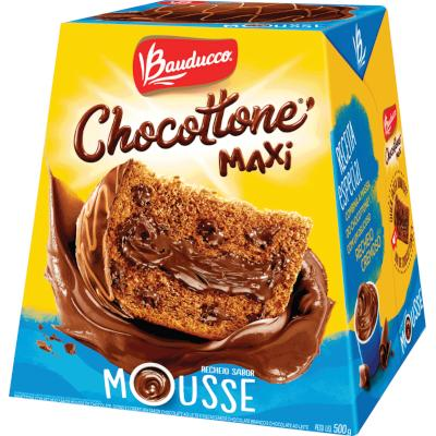 Chocotone Recheio Mousse de Chocolate 500g Bauducco/Maxi  UN