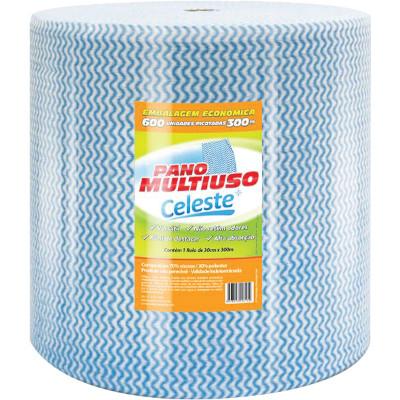 Pano de limpeza multiuso azul 300m unidade Celeste rolo UN