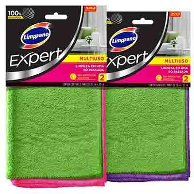Pano de limpeza multiuso expert 2 unidades Limppano pacote PCT