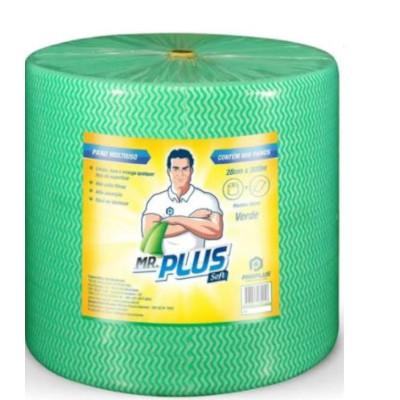Pano de limpeza multiuso soft verde 300m unidade Mr. Plus rolo UN