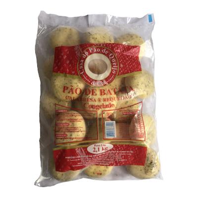 Pão de Batata Calabresa com Requeijão  20 unidades Casa do Pão de Queijo pacote 2,7kg PCT