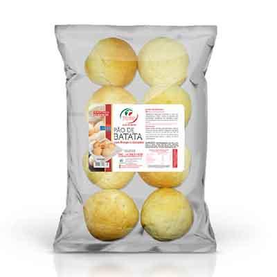 Pão de batata com frango e catupiry congelado 50g 300g Trevisan pacote UN