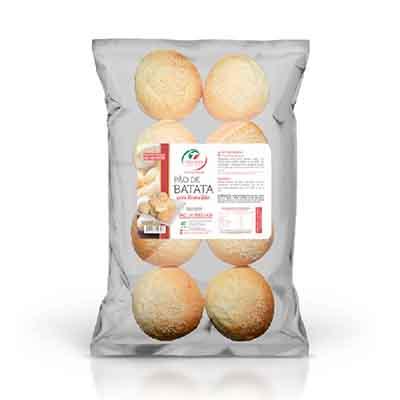 Pão de batata com requeijão congelado 50g 400g Trevisan pacote UN