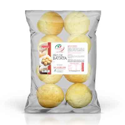 Pão de batata congelado 50g 400g Trevisan pacote UN