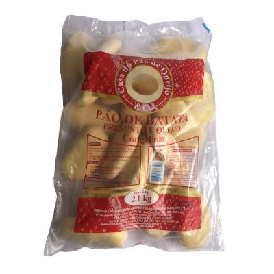 Pão de Batata Presunto e Queijo 20 unidades Casa do Pão de Queijo pacote 2,7kg PCT