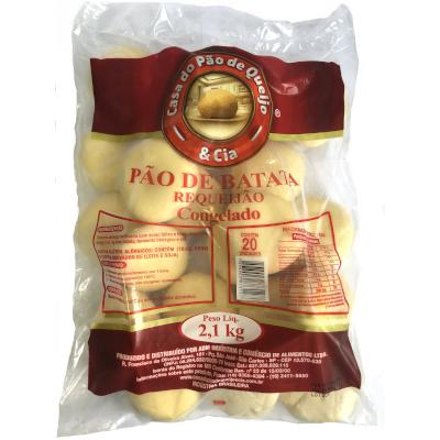Pão de Batata  Requeijão 20 unidades Casa do Pão de Queijo pacote 2,5kg PCT