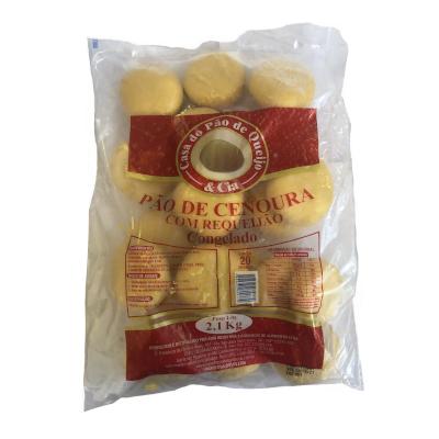 Pão de Cenoura de Requeijão 20 unidades Casa do Pão de Queijo pacote 2,5kg PCT
