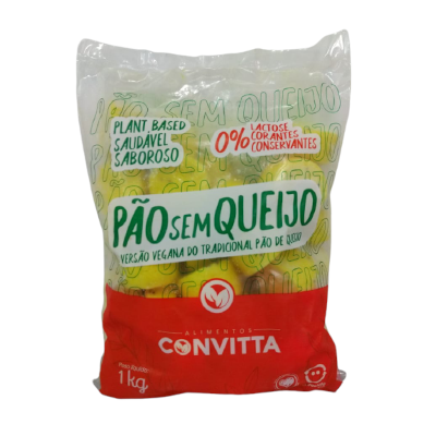 Pão Sem Queijo Pão de Queijo Vegetal 1kg Alimentos Convitta  UN