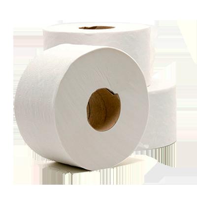 Papel Higiênico Rolão Folha Simples 100% Celulose 8 unidades de 300m Thorium pacote FD