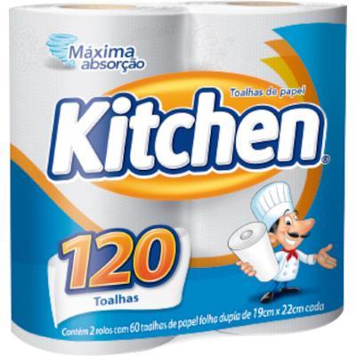 Papel Toalha  2 rolos Kitchen pacote PCT