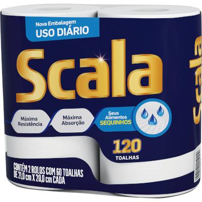 Papel Toalha  2 rolos Scala pacote PCT