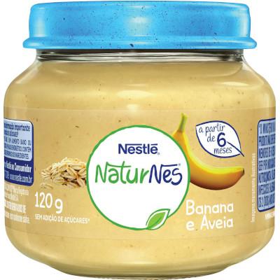 Papinha de Banana e Aveia Naturnes 120g Nestlé pote POTE