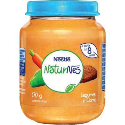 Papinha de Carne com Legumes Naturnes 170g Nestlé pote POTE