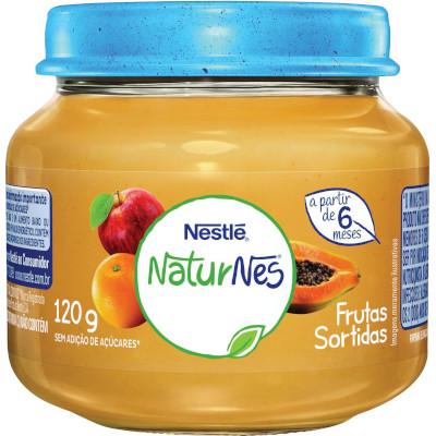 Papinha de Frutas Sortidas Naturnes 120g Nestlé pote POTE