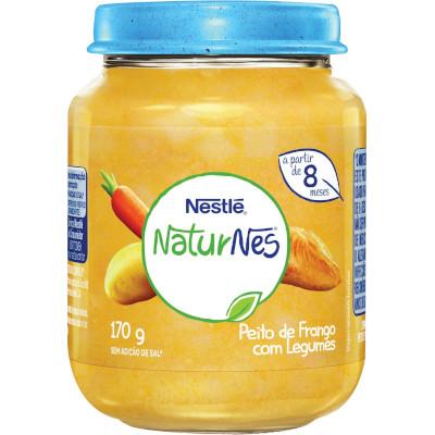 Papinha de Peito de Frango com Legumes Naturnes 170g Nestlé pote POTE