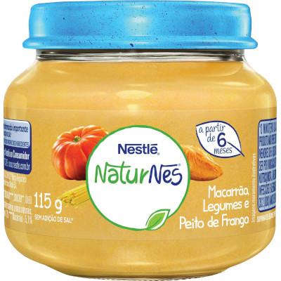 Papinha de Peito de Frango Legumes e Macarrão Naturnes 115g Nestlé pote POTE