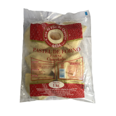 Pastel de Forno Carne 10 unidades Casa do Pão de Queijo pacote 1,4kg PCT