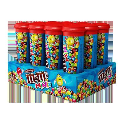Pastilha de chocolate confeitadas (tubo) 12 unidades MMS caixa CX