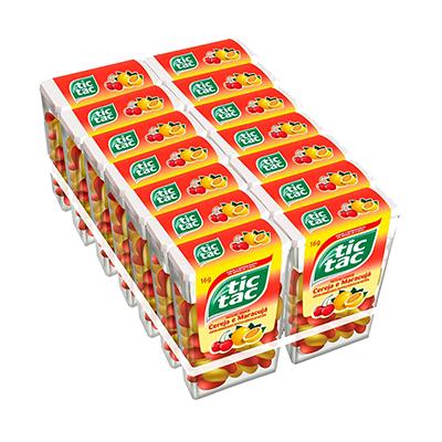 Pastilha sabor cereja maracuja 14 unidades Tic Tac caixa CX