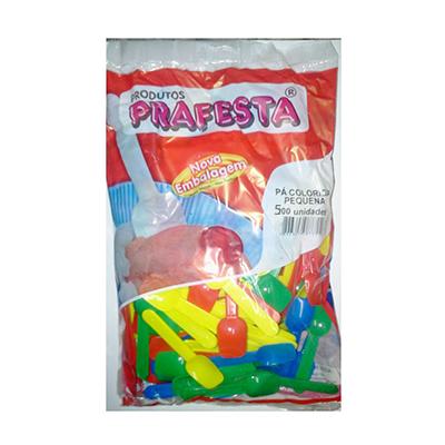 Pazinha para sorvete pequena colorida 500 unidades Prafesta pacote PCT