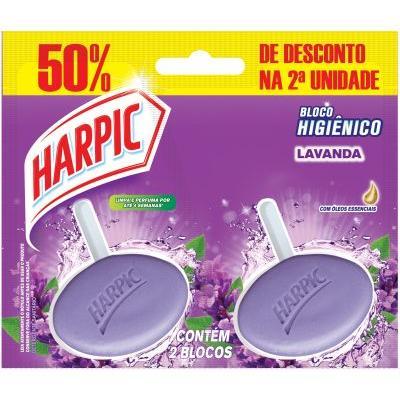 Pedra Sanitária Lavanda 50% Desconto 02 unidades de 26g Harpic  PCT