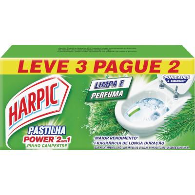 Pedra Sanitária aroma pinho 03 unidades Harpic caixa UN