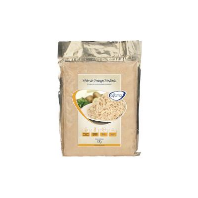 Peito de Frango desfiado e cozido por Kg Alfama pacote KG